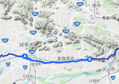 中山道9 加納宿⇒JR各務ヶ原駅