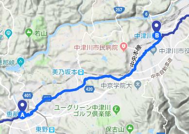 中山道13 JR恵那駅⇒大井宿⇒中津川宿⇒JR中津川駅