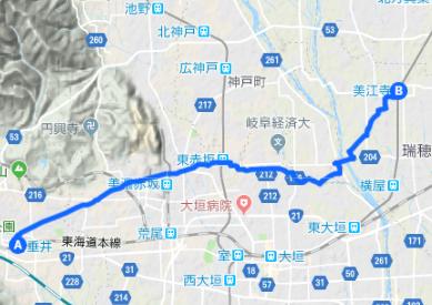 中山道7 垂井宿⇒赤坂宿⇒美江寺宿