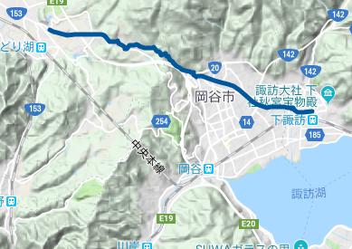 中山道23 JRみどり湖駅⇒JR下諏訪駅