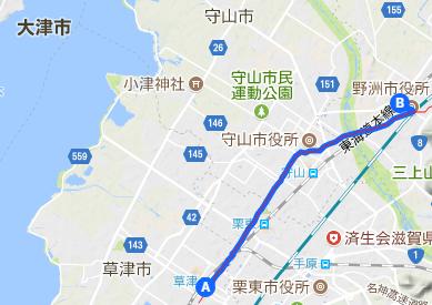 中山道1 草津宿⇒守山宿(野洲)