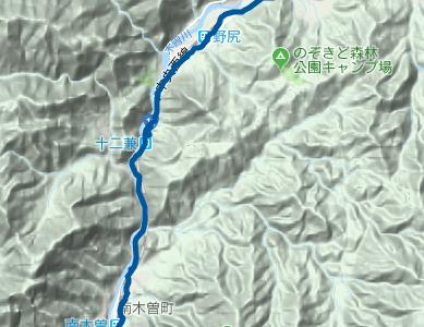 中山道16 南木曽~三留野宿~野尻宿~JR大桑駅