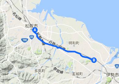 伊勢街道4 松阪⇒明野