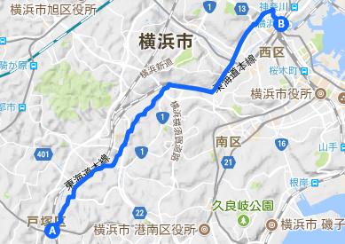 東海道 31 戸塚~横浜