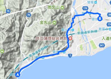 東海道 24 由比⇒富士
